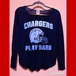 Like New! Victoria's Secret PINK NFL Chargers Top